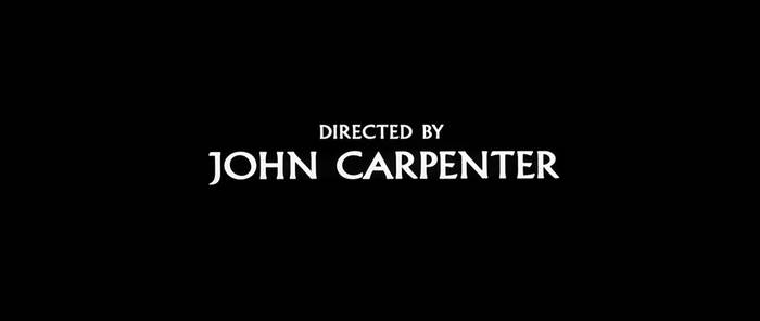 Prince of Darkness (1987) continues to evolve the previous approaches, cutting between black title frames and an extended intro sequence. This time, Carpenter's directorial credit doesn't show until more than 10 minutes in. More info/images here.