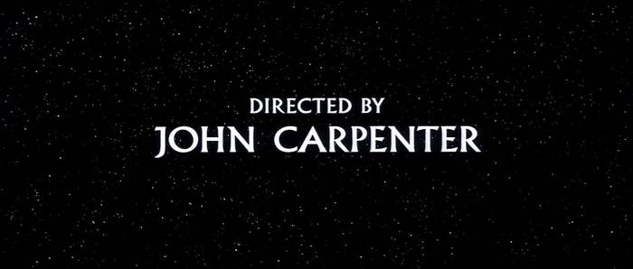 Starman (1984), like The Thing, starts with Carpenter's name in Albertus on a field of stars. More info/images here.