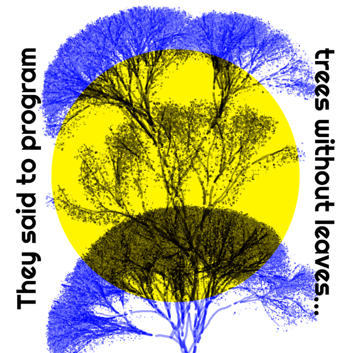 """""""They said to program trees without leaves …"""" and """"This is me – in some particular way."""" posters 2"""