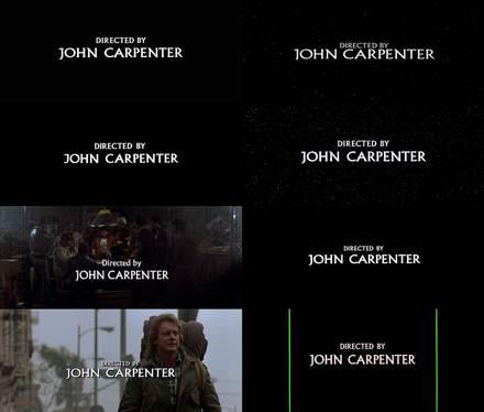 Directed by John Carpenter