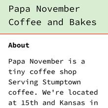 Papa November website