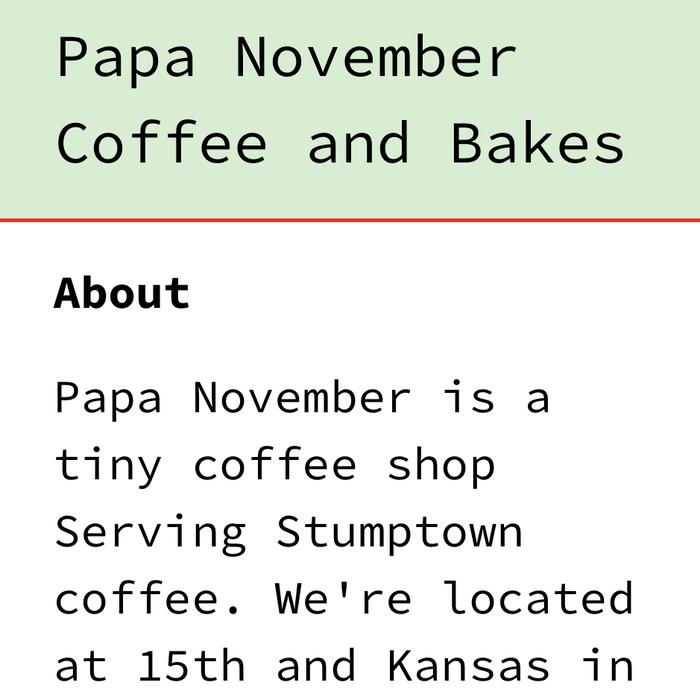 Papa November website 1