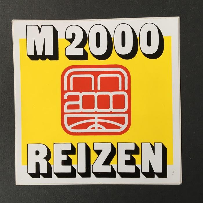 """""""M2000 Reizen"""" sticker"""
