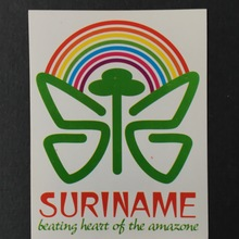 """Suriname – beating heart of the amazone"" sticker"
