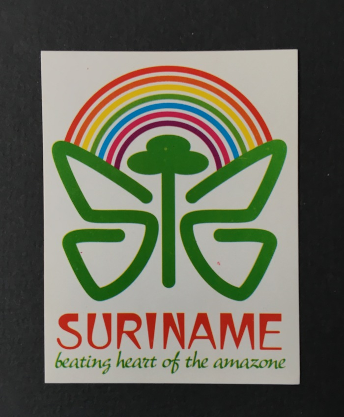 """""""Suriname – beating heart of the amazone"""" sticker"""
