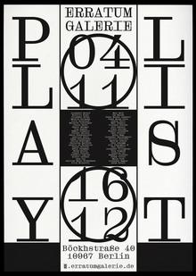 <cite>Playlist</cite> at Erratum Galerie