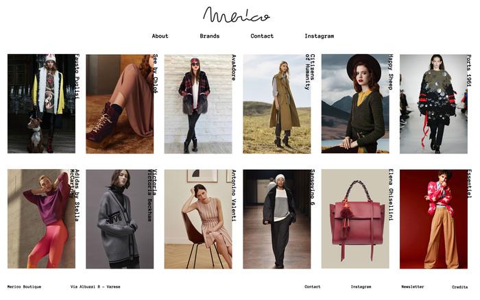 Merico Boutique website 1