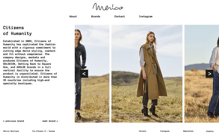 Merico Boutique website 4