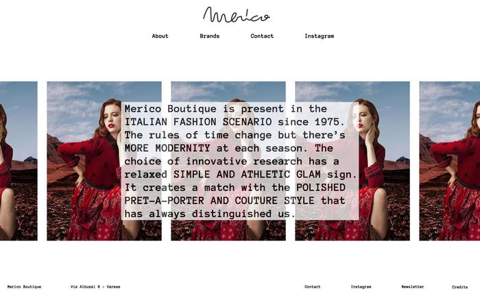 Merico Boutique website 3
