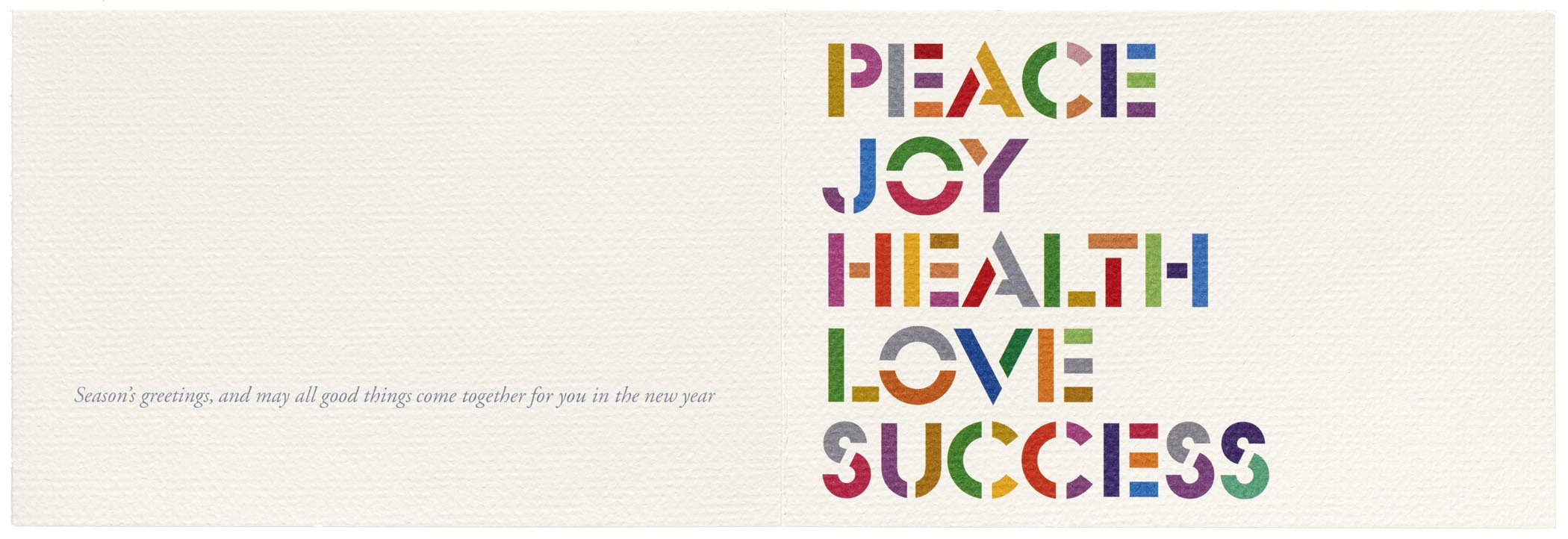 tom geismar new year greeting card