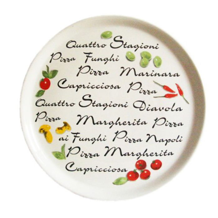Typographic pizza plates 2