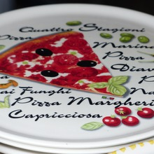 Typographic pizza plates