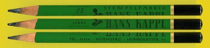 Stempelfabrik Hans Kappl pencil 1