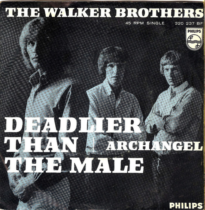 """The Walker Brothers – """"Deadlier Than The Male"""" / """"Archangel"""" Dutch single cover 1"""