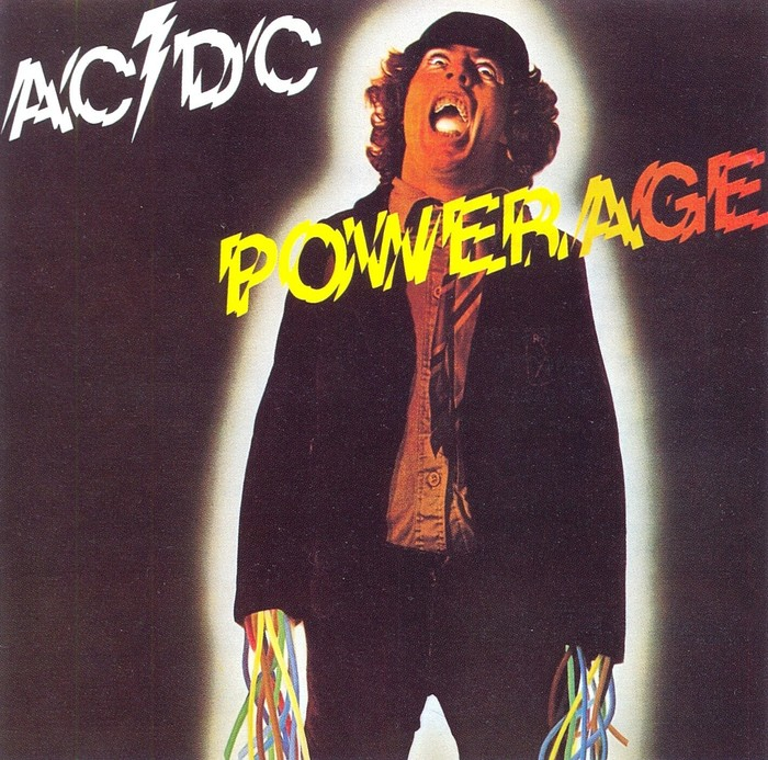 1978 LP Powerage (Albert Productions/EMI Australia, Atlantic). Photography by Jim Houghton, Art Direction by Bob Defrin.