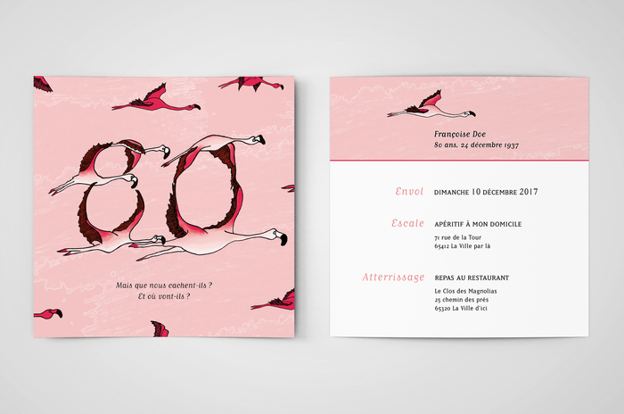 Invitation for Françoise's birthday party