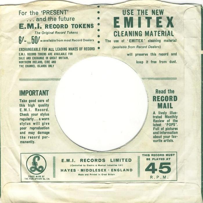 Parlophone Company sleeves (1963–65) 2