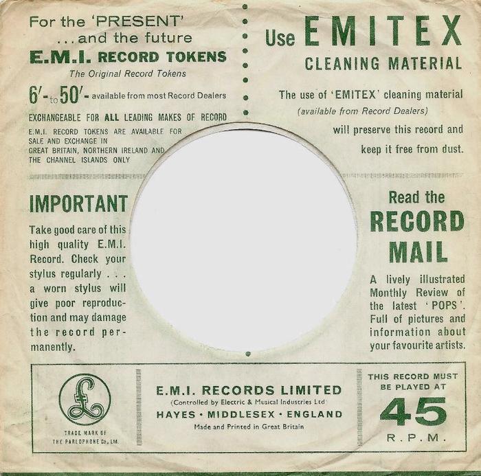 Parlophone Company sleeves (1963–65) 4