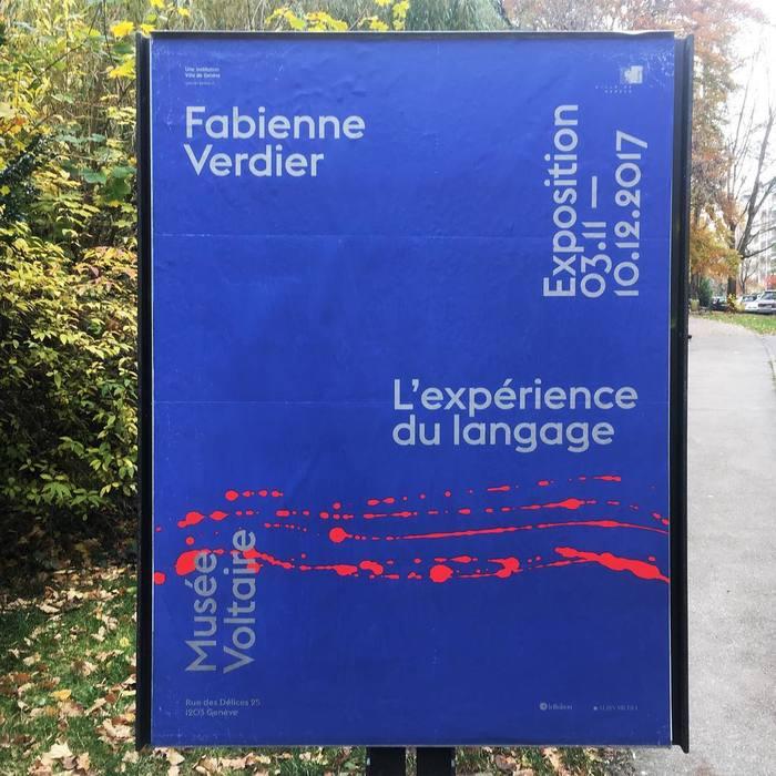 Fabienne Verdier – L'expérience du language, MuséeVoltaire 1