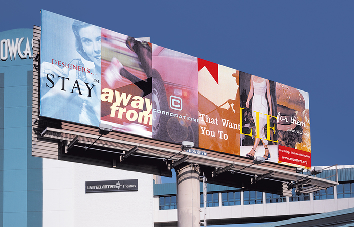 Adbusters: First Things First billboard 1