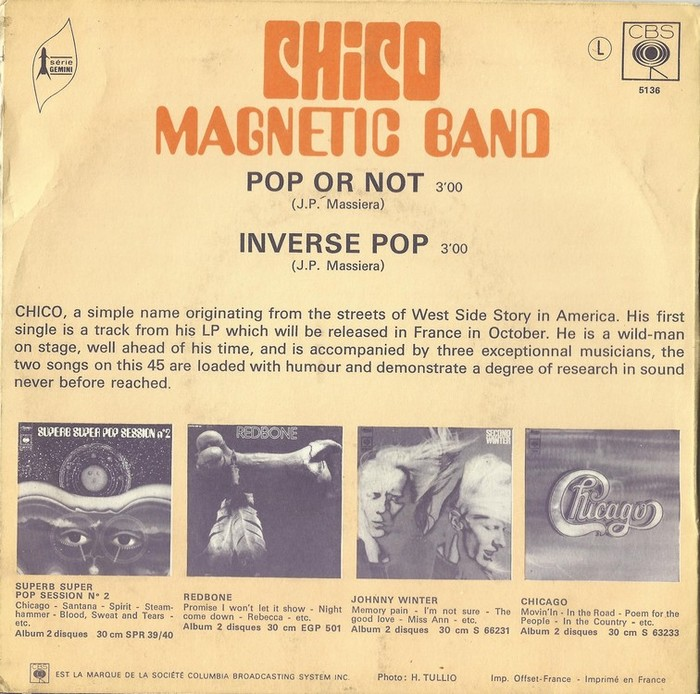 Chico Magnetic Band — Pop Or Not / Inverse Pop 2