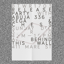 Behind This Wall BTWr1703 party poster
