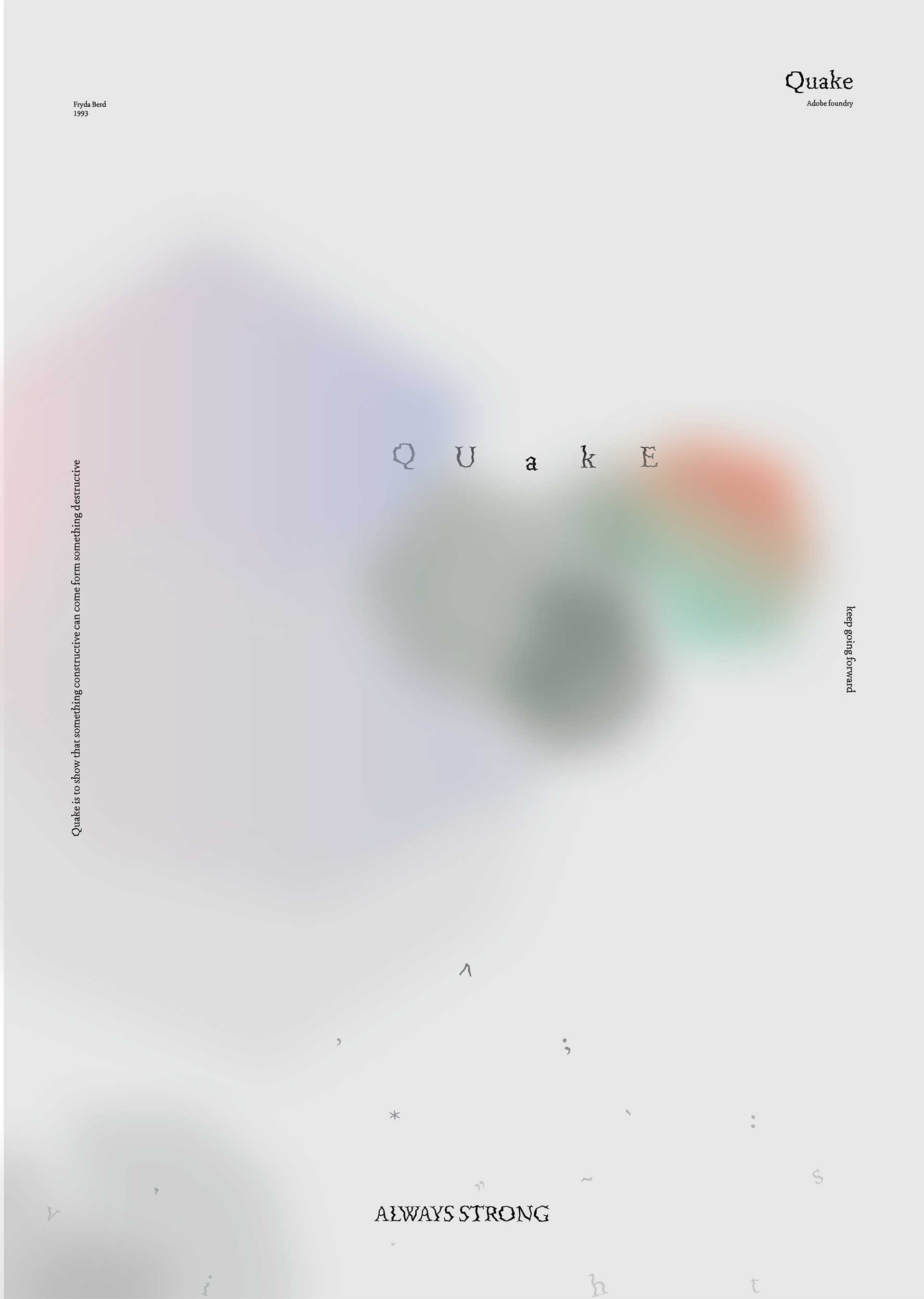 Quake specimen posters - Fonts In Use