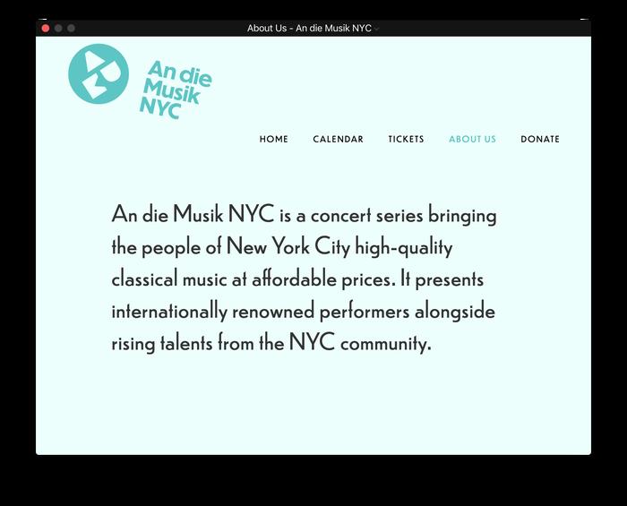 An die Musik NYC 8
