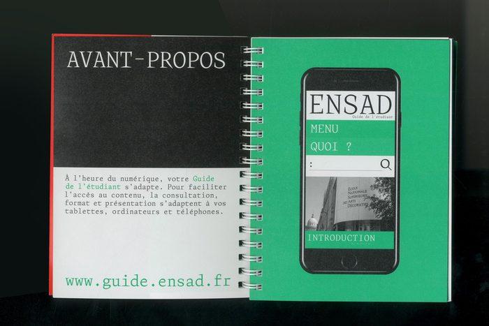Guide de l'étudiant 2017, ENSAD, Paris 2