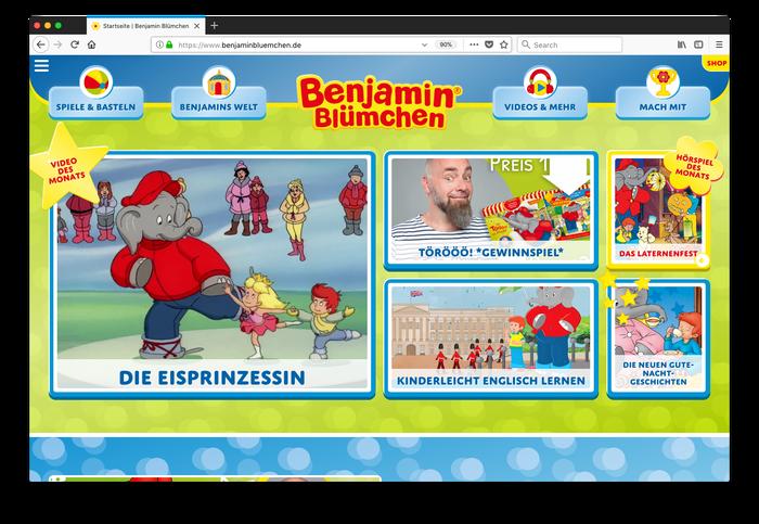 Benjamin Blümchen website 1