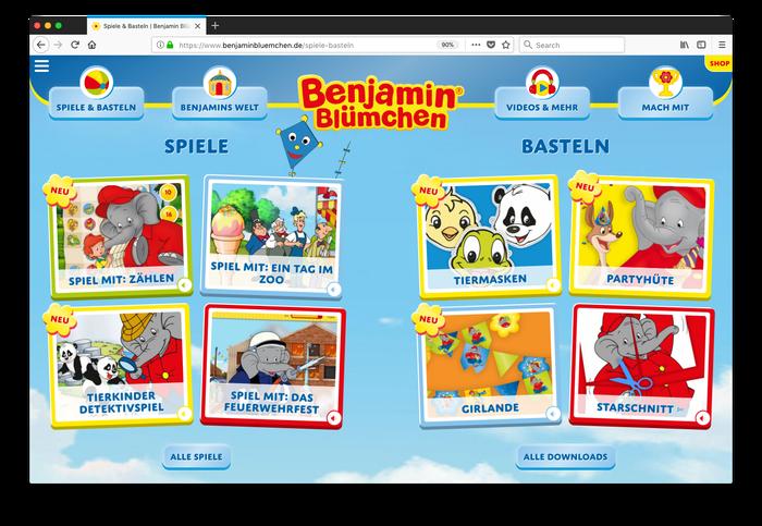 Benjamin Blümchen website 2