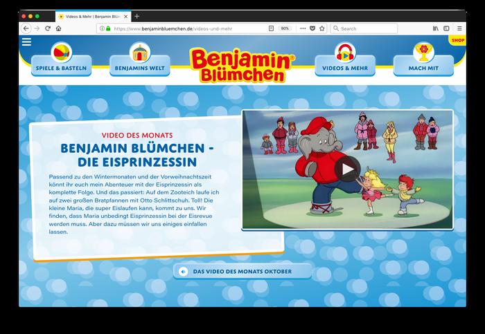 Benjamin Blümchen website 4