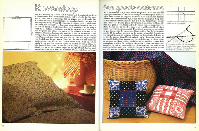 """Kussensloop / Een goede oefening"" (pillow case / a good exercise) set in Expressa, with an 'oo' ligature. Captions set with IBM's version of Univers."