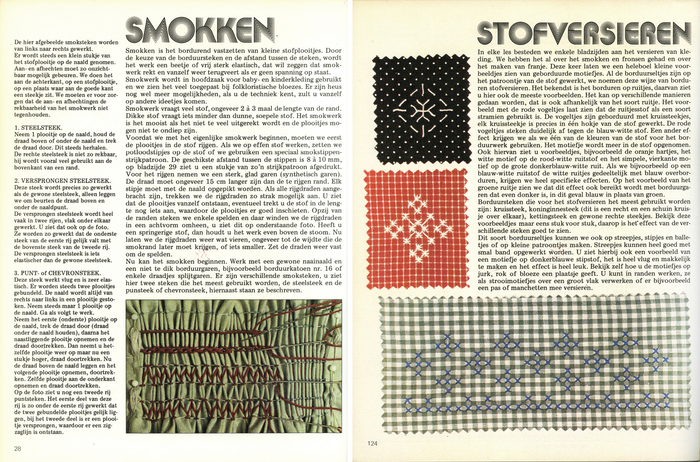 """Smokken / Stofversieren"" (Shirring / Decorating textiles) set in Aki Lines, an ITC original that was also available from Mecanorma."