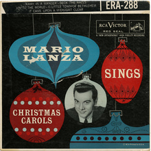 <cite>Mario Lanza Sings Christmas Carols</cite> album art