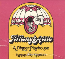 Tiffany's Attic logo, matchbook, mug
