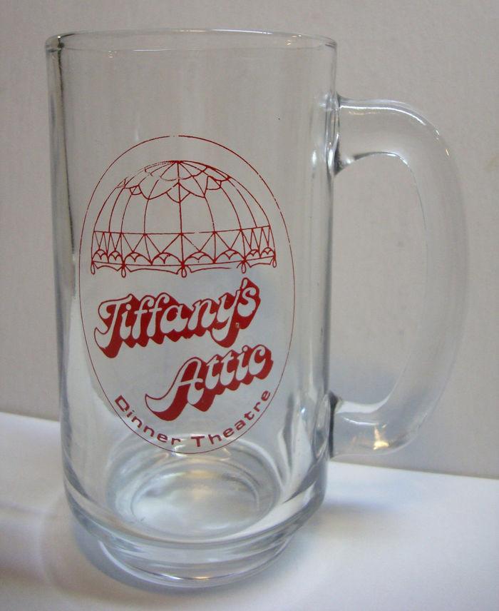 Tiffany's Attic logo, matchbook, mug 2
