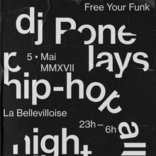 DJ Pone in Paris poster