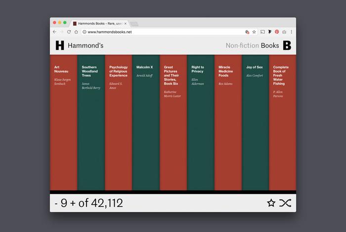 Hammond's Books website 4