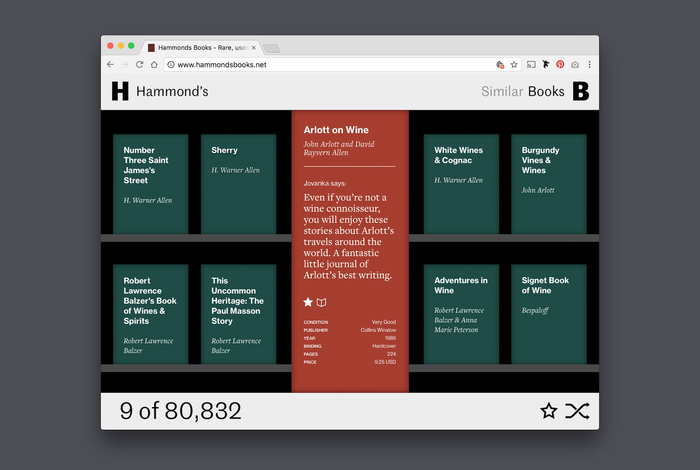 Hammond's Books website 1