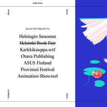 Sofia Pusa portfolio website