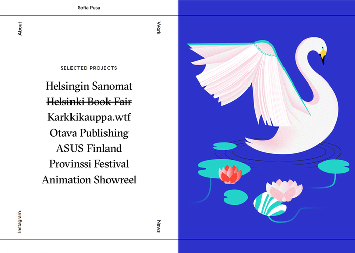 Sofia Pusa portfolio website 1