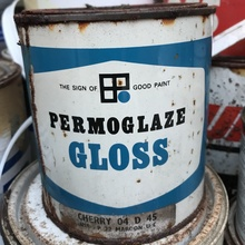 Permoglaze Gloss paint can (1970s)