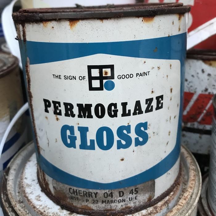 Permoglaze Gloss paint can (1970s)