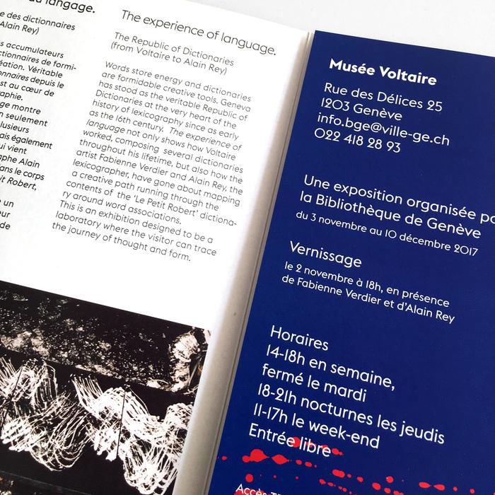 Fabienne Verdier – L'expérience du language, MuséeVoltaire 5