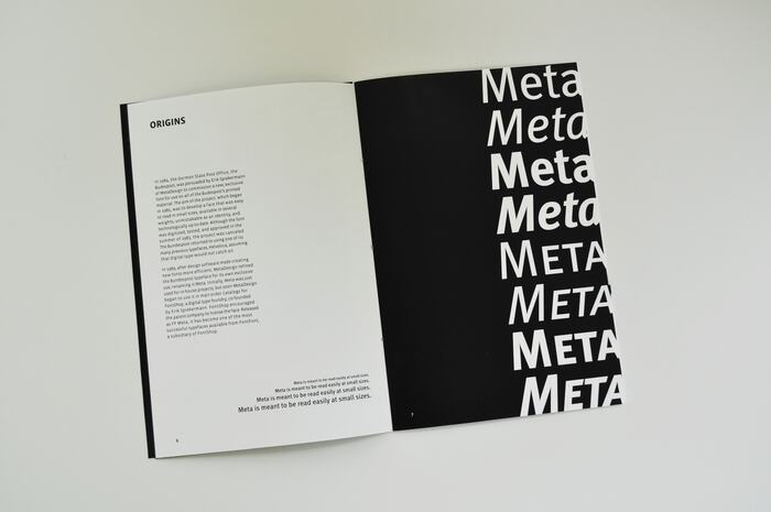 FF Meta type specimen 2