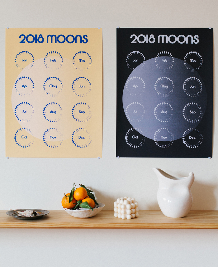 2018 Moons Calendar 1