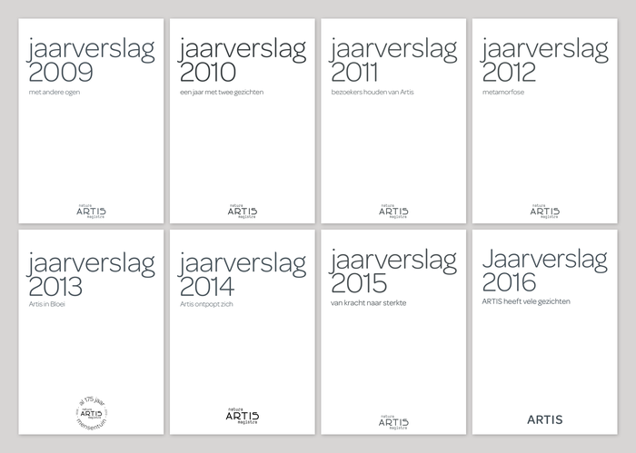 Artis annual reports (2009–) 1