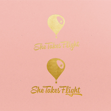 She Takes Flight conference identity, website, collateral
