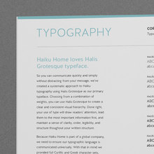 Haiku Home brand manual